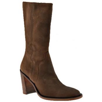 Schuhe Damen Low Boots Nci HeelAnkleBoots90halbstiefel Braun