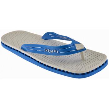 Schuhe Damen Zehensandalen Sensi Montecarlo W Fluo flip flop zehentrenner Weiss