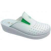 Schuhe Damen Pantoletten / Clogs Sanital Anatomico Elastici orthopaedische Weiss