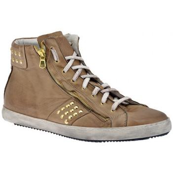 Schuhe Herren Sneaker High Exton Zip Bulloni Mid sportstiefel Beige