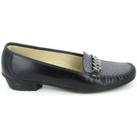 Schuhe Damen Slipper Boissy Binome Noir Gris Schwarz