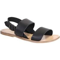 Schuhe Damen Sandalen / Sandaletten Gianluca - L'artigiano Del Cuoio 500X U NERO LGT-CUOIO nero
