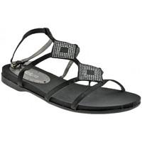 Schuhe Damen Sandalen / Sandaletten Chedivé Sandalensandale Schwarz