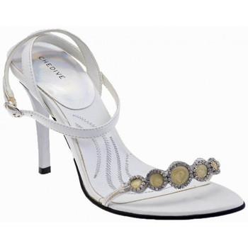 Schuhe Damen Sandalen / Sandaletten Chedivé StrassAbsatz100sandale Weiss