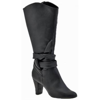 Schuhe Damen Low Boots Chedivé 80HeelZiphalbstiefel Schwarz