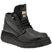 Schuhe Herren Boots Docks 22300 Lässige Platform bergschuhe Schwarz