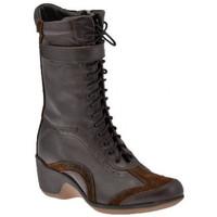Schuhe Damen Low Boots Lumberjack ZipAnkleBootshalbstiefel Braun