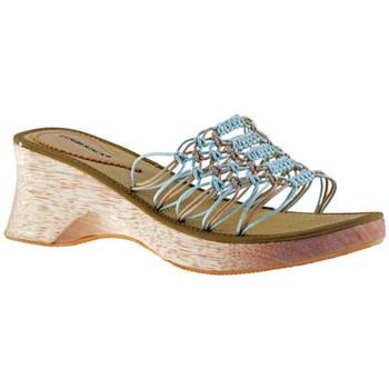 Schuhe Damen Pantoffel Lumberjack 5 CM Holz pantoletten hausschuhe