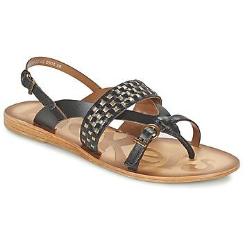 Schuhe Damen Sandalen / Sandaletten Kickers NEWTONG Schwarz