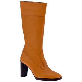 Schuhe Damen Klassische Stiefel Fornarina 100PlateauHeelZipstiefel Beige