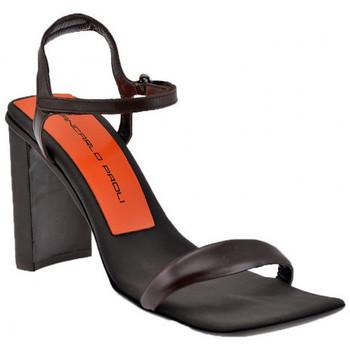 Schuhe Damen Sandalen / Sandaletten Giancarlo Paoli Klett-Heel 90 sandale Braun