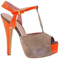Schuhe Damen Pumps Cuomo HeelSandale140hoeheAbsatzhoeheAbsatz hoehe Absatz Braun