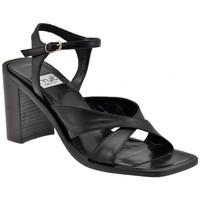 Schuhe Damen Sandalen / Sandaletten Now StrapHeel80sandale Schwarz