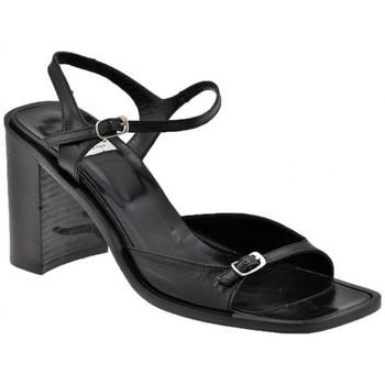 Schuhe Damen Sandalen / Sandaletten Now BuckleStrapHeel280sandale Schwarz
