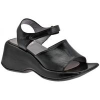 Schuhe Damen Sandalen / Sandaletten Now WedgeKlettband60sandale Schwarz