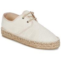 Schuhe Damen Leinen-Pantoletten mit gefloch Betty London ECHOULE Weiss