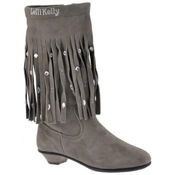 Schuhe Kinder Klassische Stiefel Lelli Kelly Fringesstiefel Grau
