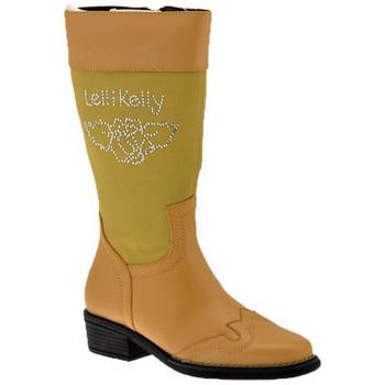Schuhe Kinder Klassische Stiefel Lelli Kelly Strassstiefel Beige
