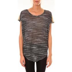 Kleidung Damen T-Shirts Dress Code Top à sequins R5523 anthracite Grau