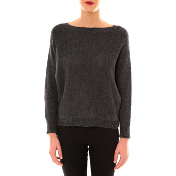 Kleidung Damen Pullover De Fil En Aiguille Pull Galina anthracite Grau