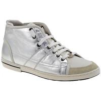 Schuhe Damen Sneaker High OXS Polk sportstiefel Silbern