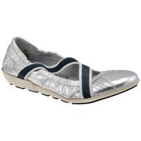 Schuhe Damen Ballerinas OXS Agnen ballet ballerinas Silbern