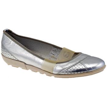 Schuhe Damen Ballerinas OXS Elastico ballet ballerinas Silbern