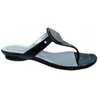 Schuhe Damen Zehensandalen Keys Gemme flip flop zehentrenner Schwarz