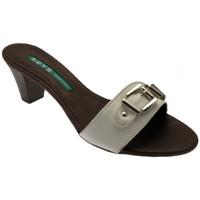 Schuhe Damen Pantoffel Keys Tacco pantoletten hausschuhe Weiss