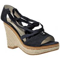 Schuhe Damen Sandalen / Sandaletten Keys Keil100sandale Blau