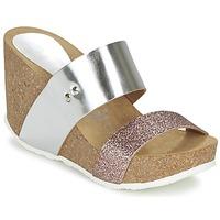 Schuhe Damen Pantoffel Ganadora FLORA Silbern