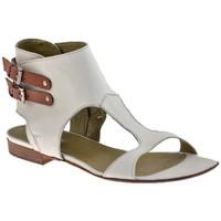 Schuhe Damen Sandalen / Sandaletten Progetto M097-Slavesandale Weiss