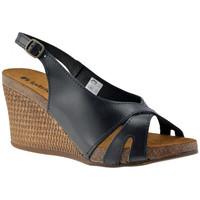 Schuhe Damen Sandalen / Sandaletten Inblu CF 05 wedge Schwarz