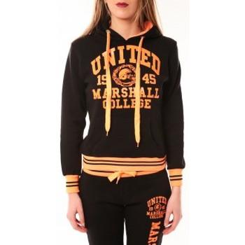 Kleidung Damen Sweatshirts Sweet Company Sweat United Marshall 1945 noir/orange Schwarz