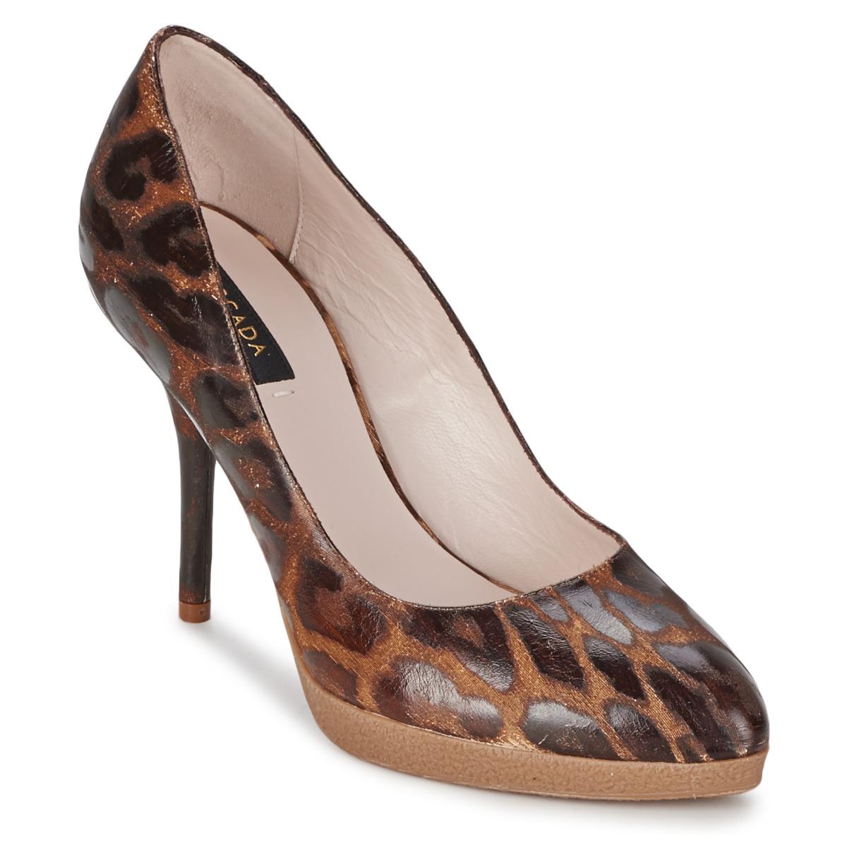 Escada AS701 Braun / Leopard - Kostenloser Versand bei Spartoode ! - Schuhe Pumps Damen 192,00 €