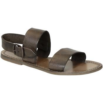 Schuhe Damen Sandalen / Sandaletten Gianluca - L'artigiano Del Cuoio 500 D FANGO CUOIO Fango