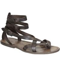 Schuhe Damen Sandalen / Sandaletten Gianluca - L'artigiano Del Cuoio 564 U FANGO CUOIO Fango