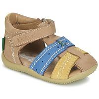 Schuhe Jungen Sandalen / Sandaletten Kickers BIGBAZAR Beige / Blau / Gelb