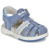 Schuhe Jungen Sandalen / Sandaletten Kickers PLATINIUM Blau