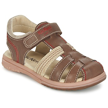 Schuhe Jungen Sandalen / Sandaletten Kickers PLATINIUM Braun