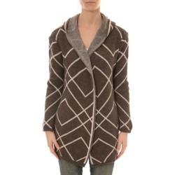 Kleidung Damen Strickjacken De Fil En Aiguille GILET CAPUCHE ZINKA 2135 TAUPE Braun