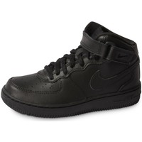 Schuhe Kinder Sneaker Nike Air Force 1 Mid Enfant Noir