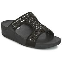 Schuhe Damen Pantoffel FitFlop CARMEL SLIDE Schwarz