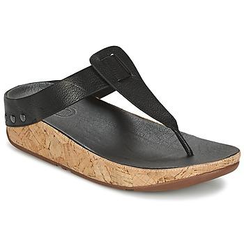 Schuhe Damen Zehensandalen FitFlop IBIZA CORK Schwarz