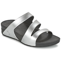 Schuhe Damen Pantoffel FitFlop SUPERJELLY TWIST Silbern