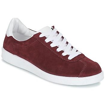 Schuhe Damen Sneaker Low Yurban EMARTI Bordeaux
