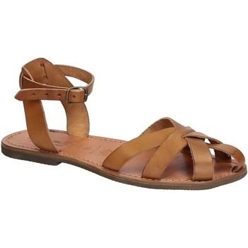 Schuhe Damen Sandalen / Sandaletten Gianluca - L'artigiano Del Cuoio 503 D CUOIO GOMMA Cuoio