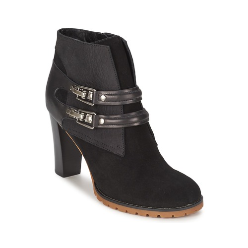 Schuhe Damen Low Boots See by Chloé SB23116 Schwarz