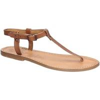 Schuhe Damen Sandalen / Sandaletten Gianluca - L'artigiano Del Cuoio 532 D CUOIO CUOIO Cuoio