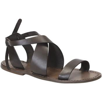 Schuhe Damen Sandalen / Sandaletten Gianluca - L'artigiano Del Cuoio 570 D FANGO CUOIO Fango